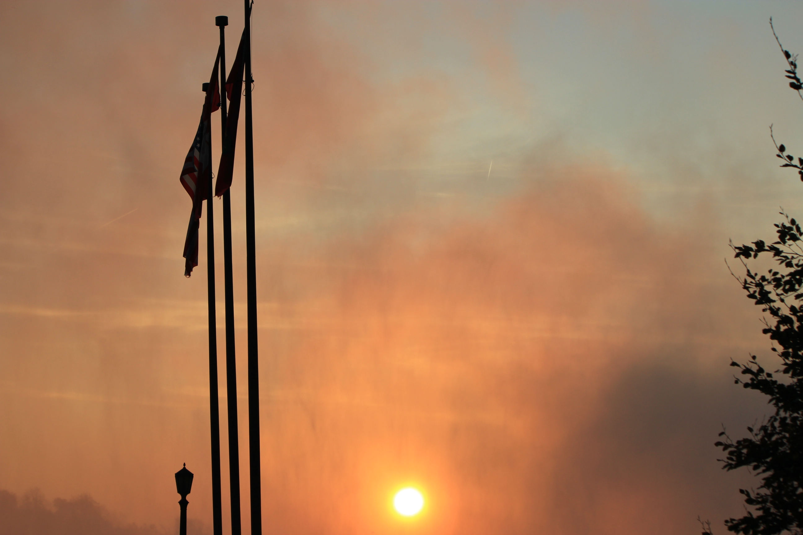 Mist Sunrise over Niagara Falls; Niagara Falls, Canada; 2011