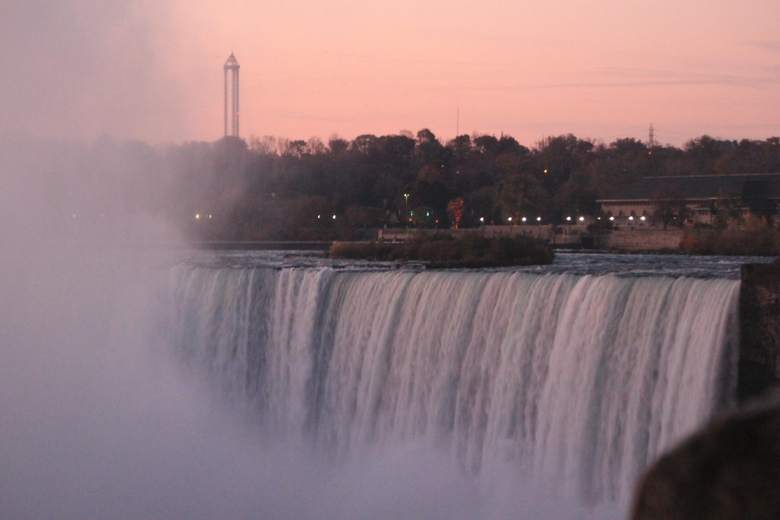 Sunset Buffalo Falls; Niagara Falls, Canada; 2011