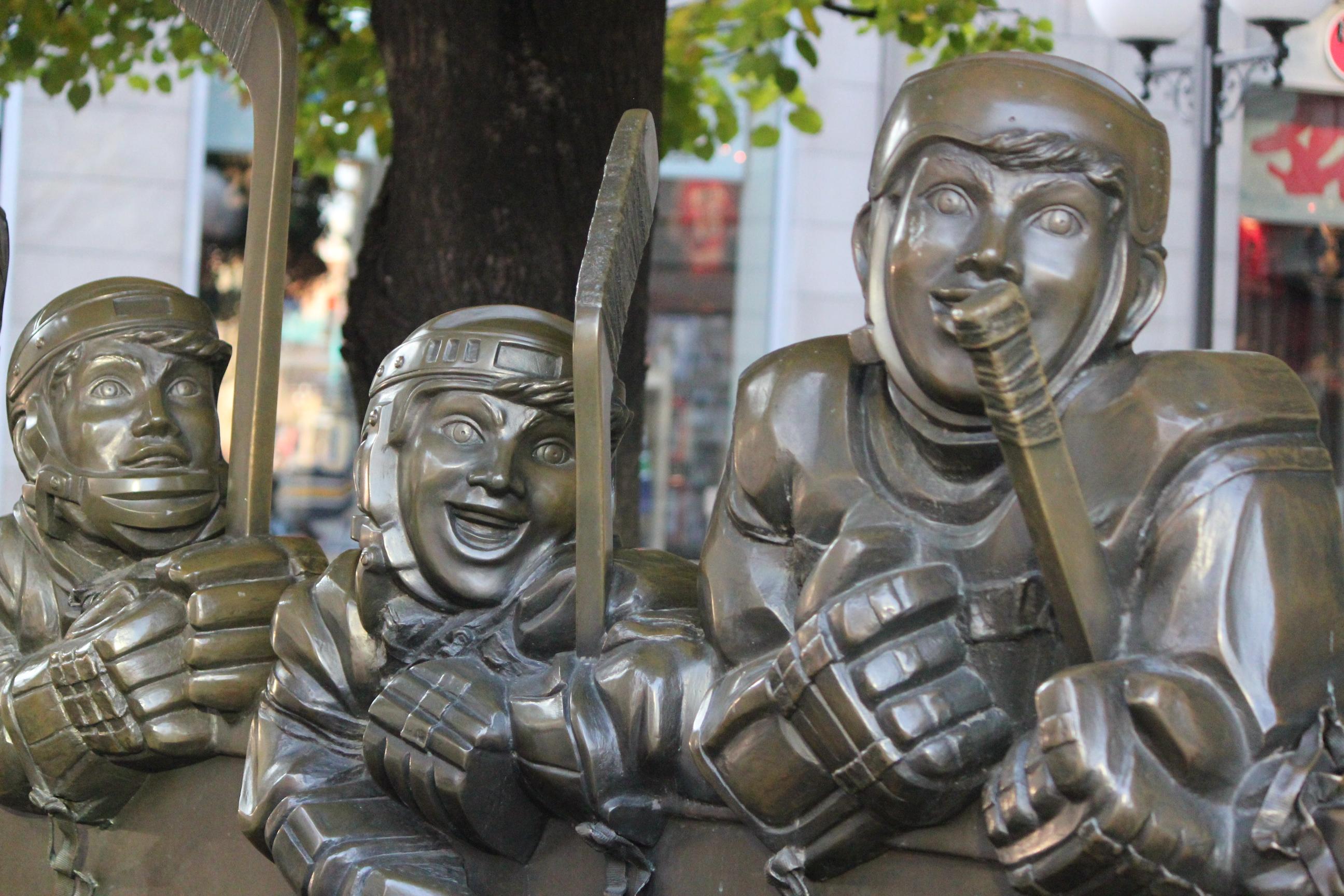 Hockey Player Statues; Toronto, Canada; 2011