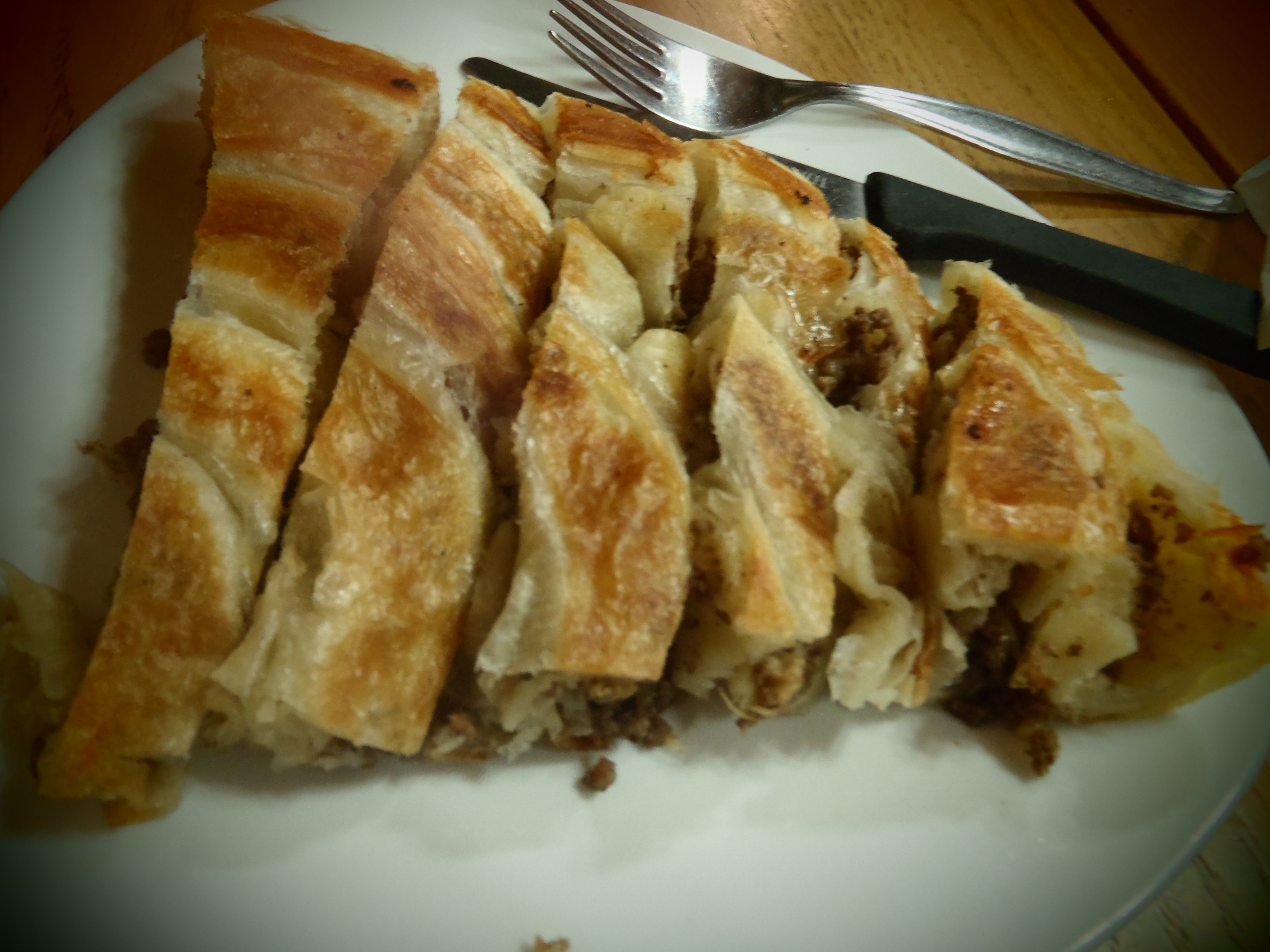 Flaky Pastry of Burek; Pristina, Kosovo; 2013