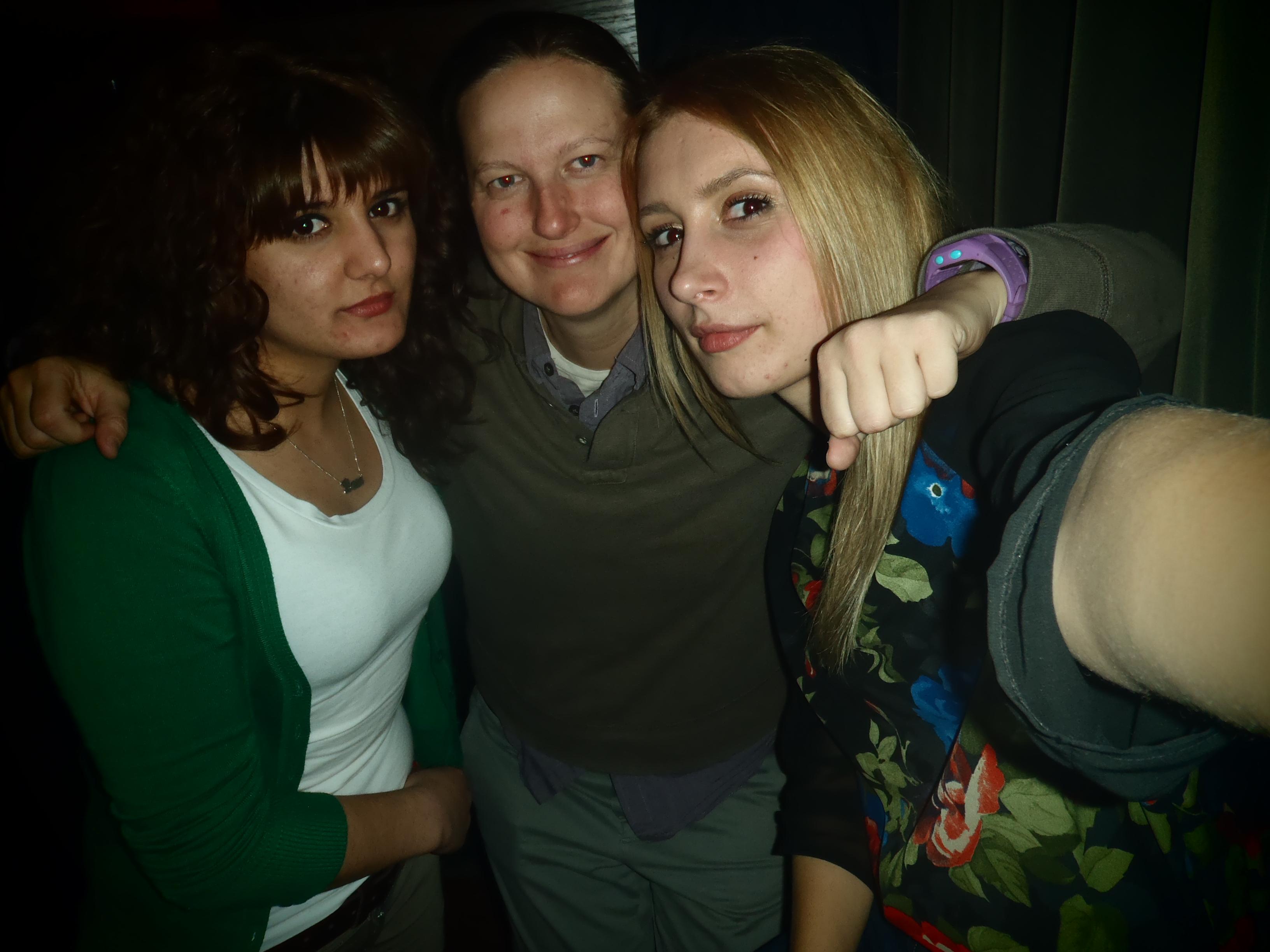 Besjana, me, and Elona; Pristina, Kosovo; 2013
