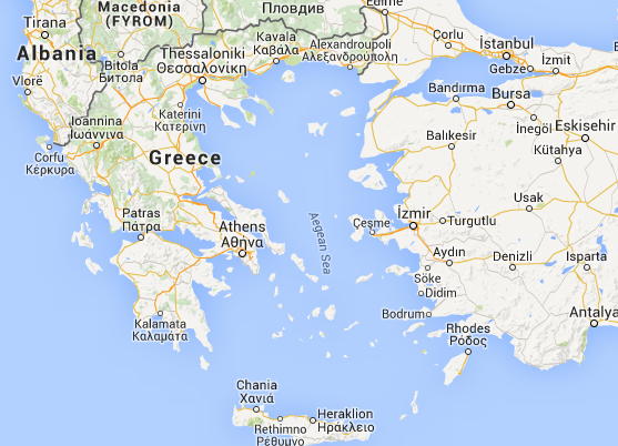 Location of Greece in Europe