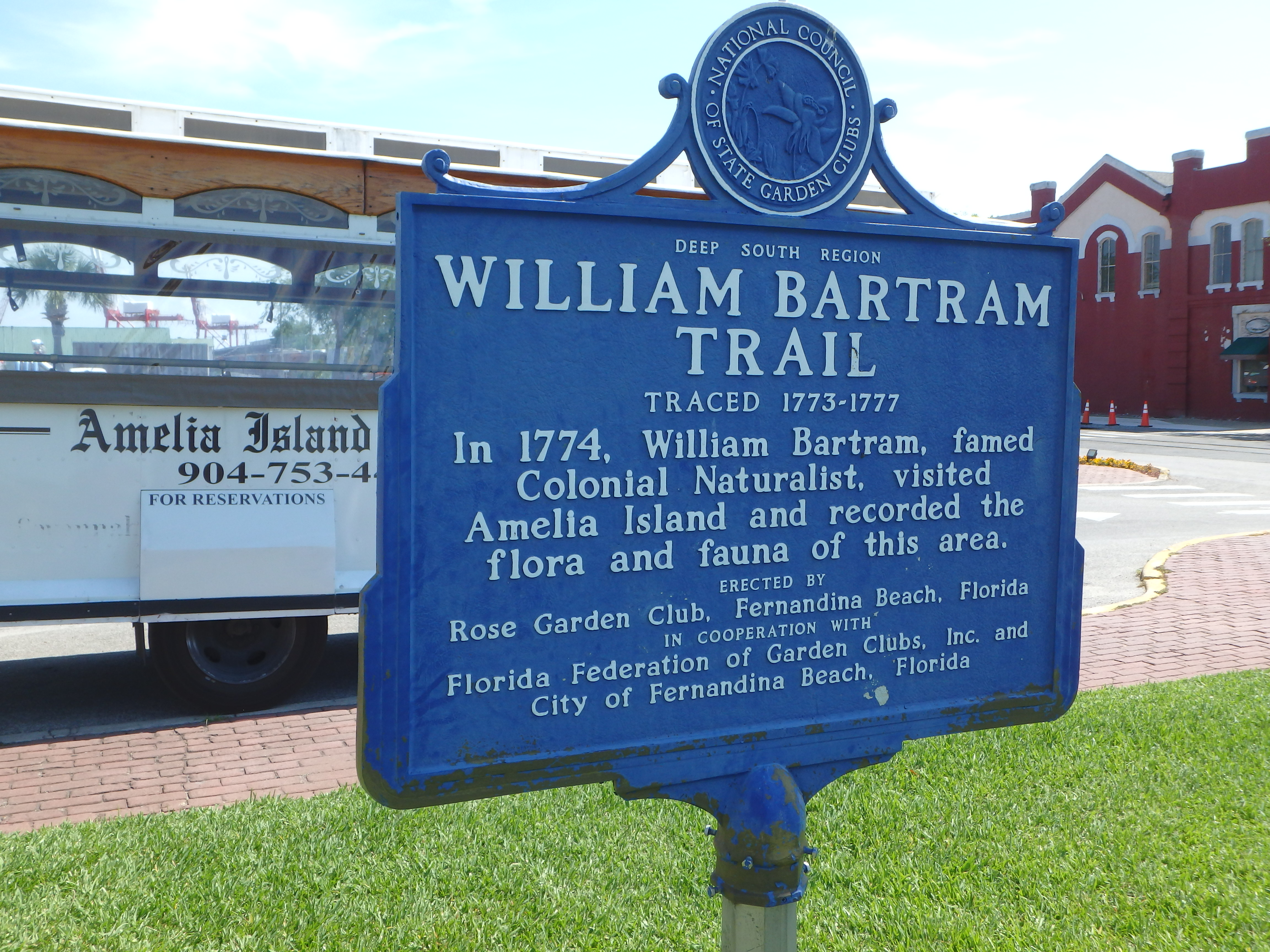 William Bartram Trail Sign; Amelia Island, FL; 2015