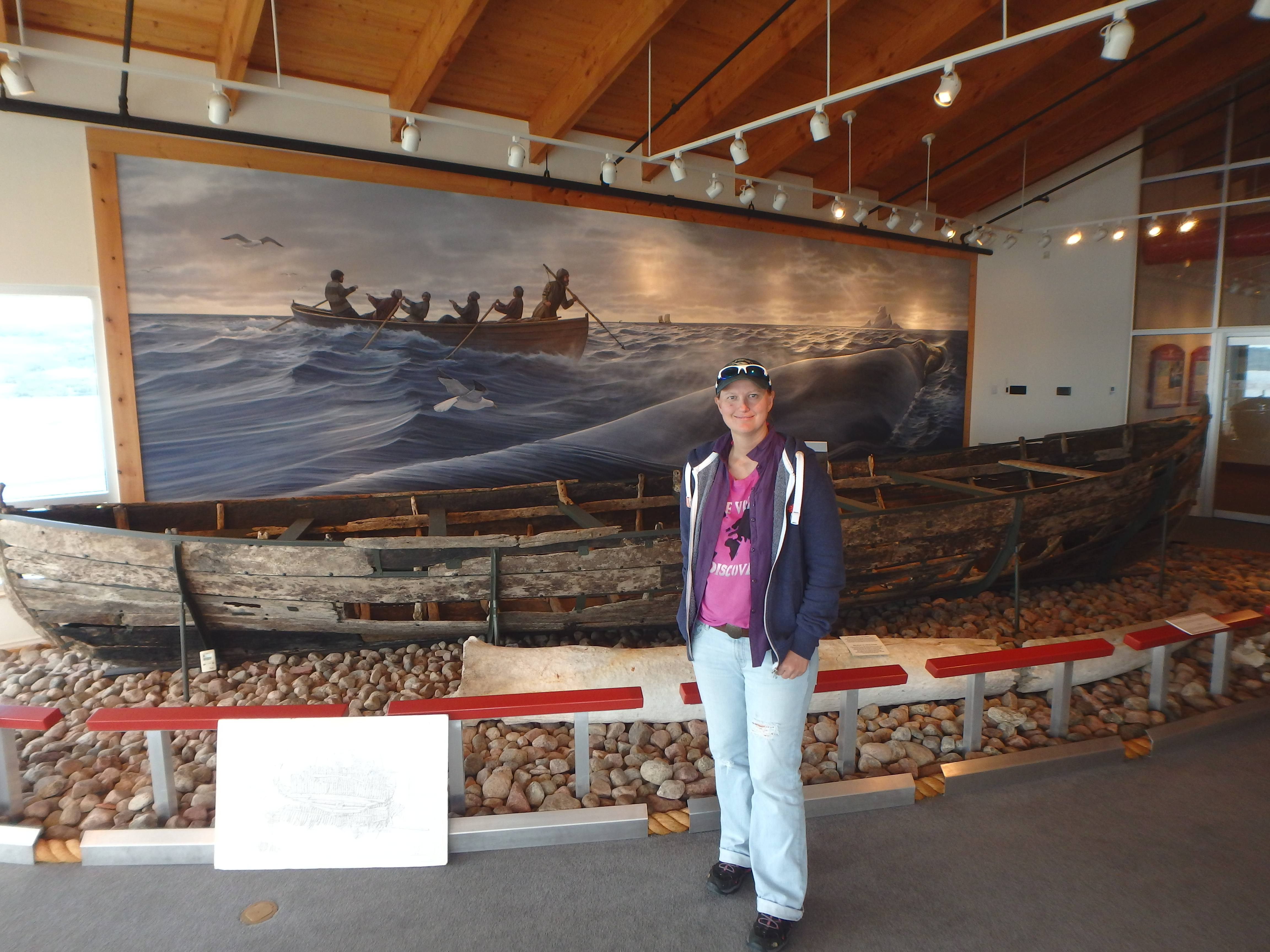 Jessica Posing in the Museum; Red Bay, Labrador; 2015