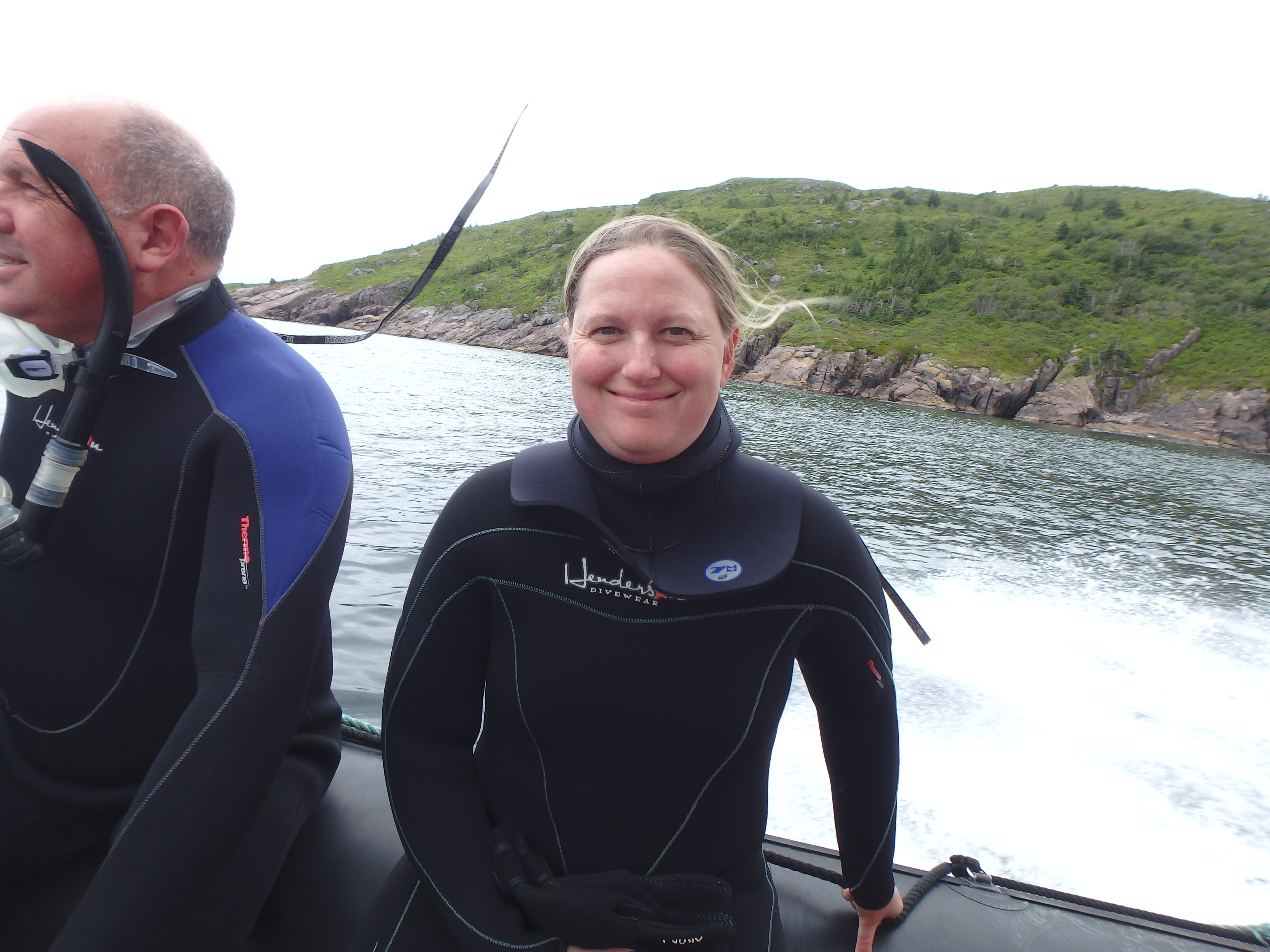 All smiles after Humpback whale encounter; Petty Harbour, Newfoundland; 2015