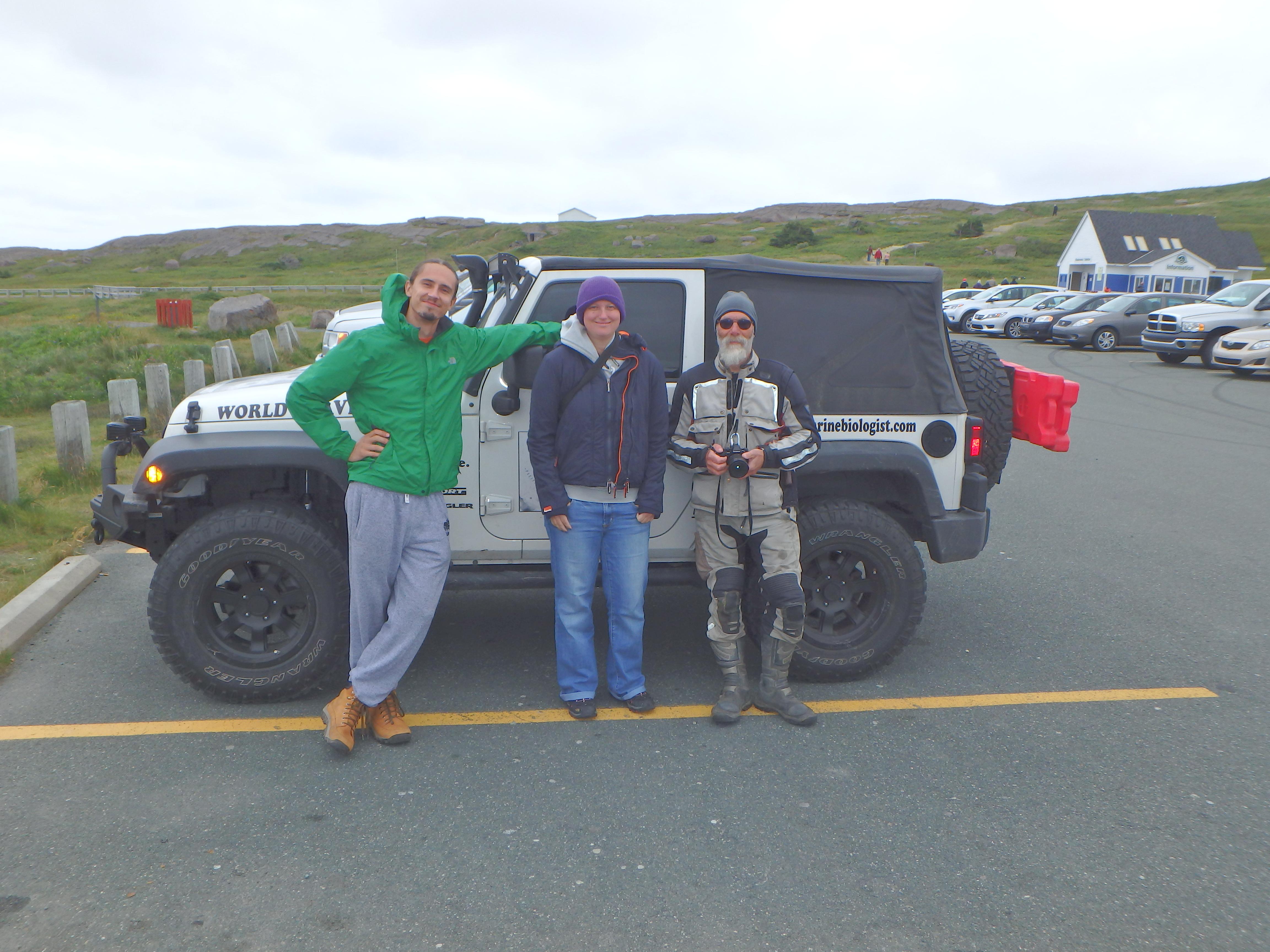 Igor, Jessica, & Eric (Motorcyclist); Cape Spear, Newfoundland; 2015