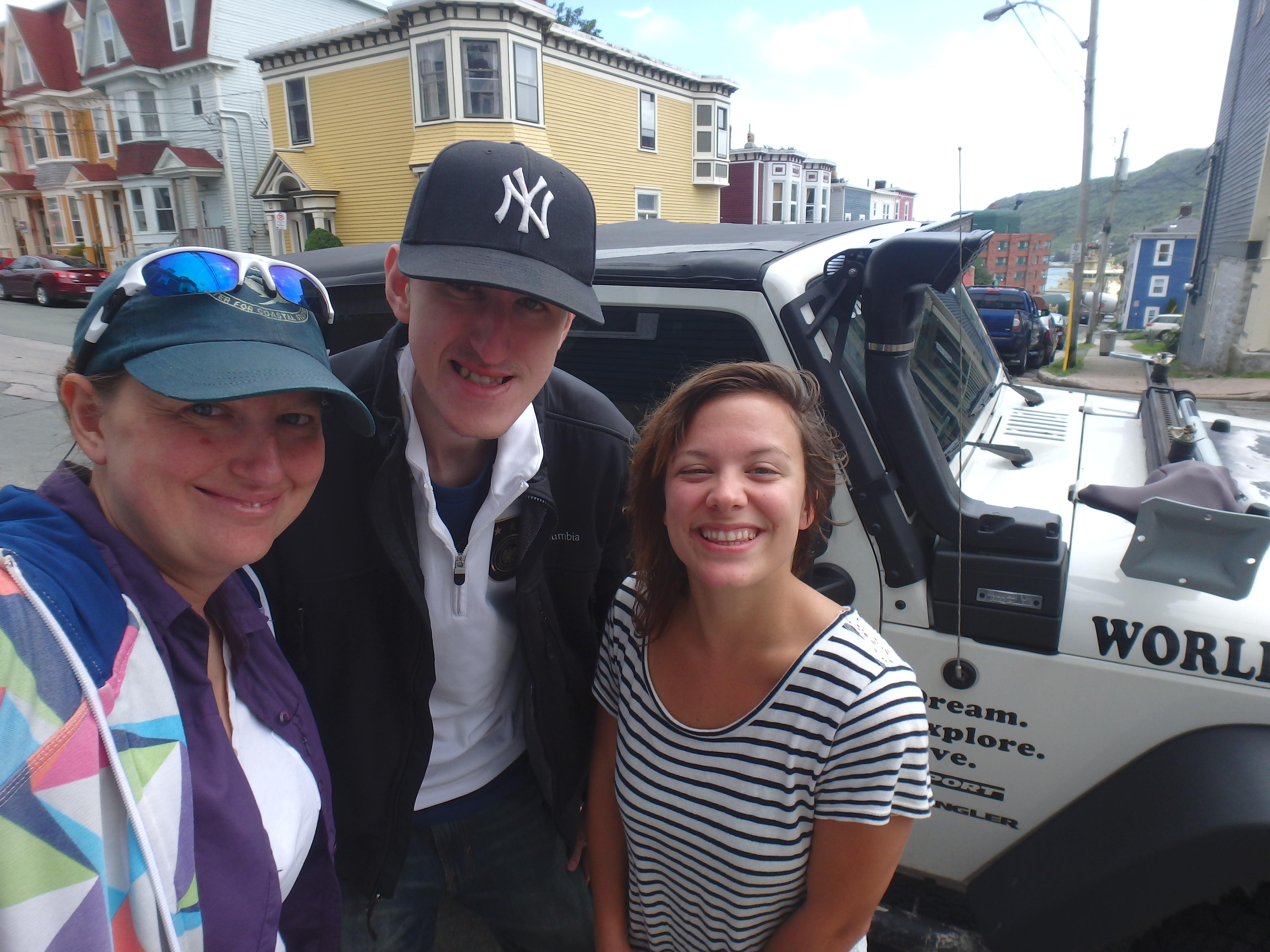 Jessica, Joshua, & Sarah; HI City Hostel Saint John's, Newfoundland; 2015