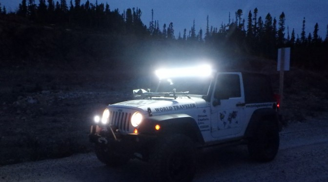 Night Driving; Trans-Labrador Highway, Canada; 2015