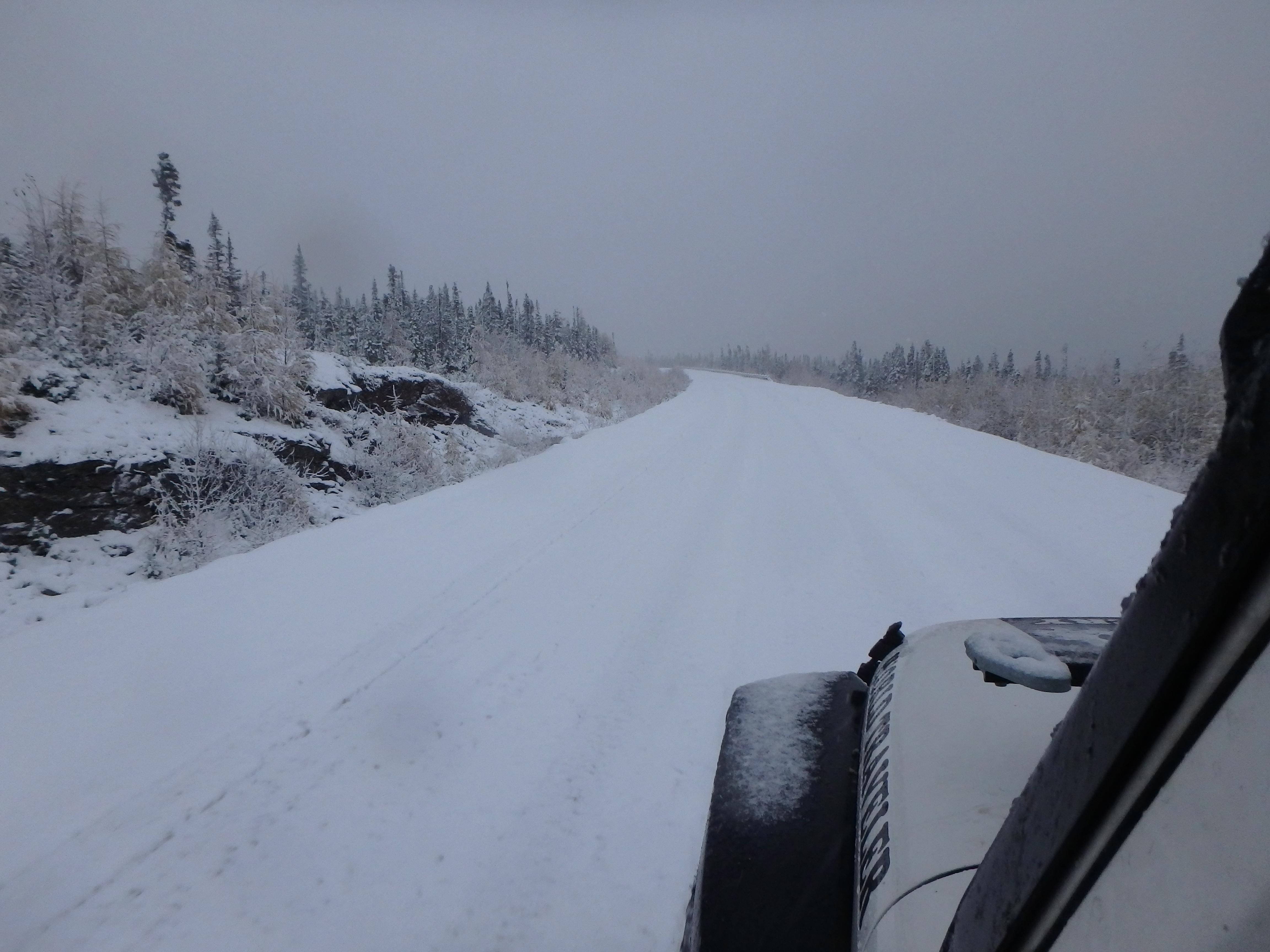 Snowy Road; Trans-Labrador Highway, Labrador; 2015