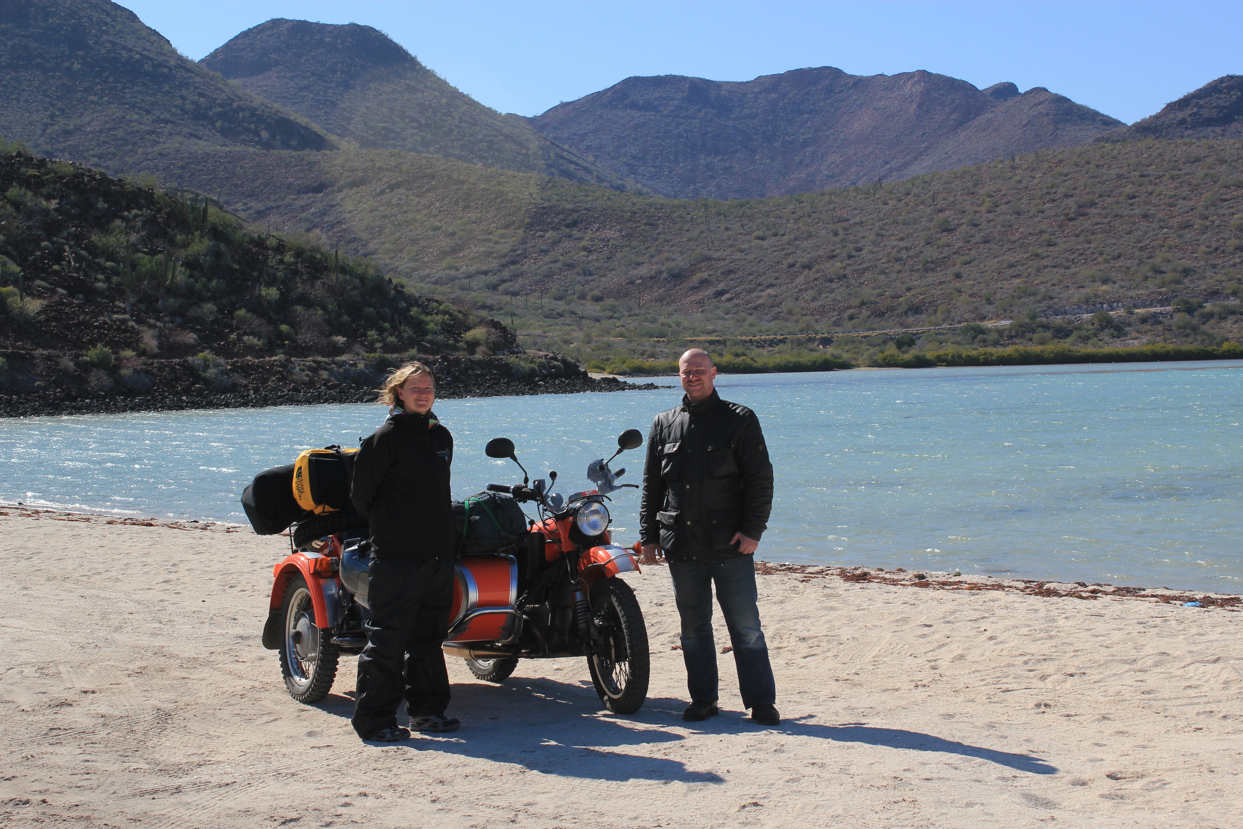 Motorcycle Sidecar Tour; Guerrero Negro - La Paz; 2012