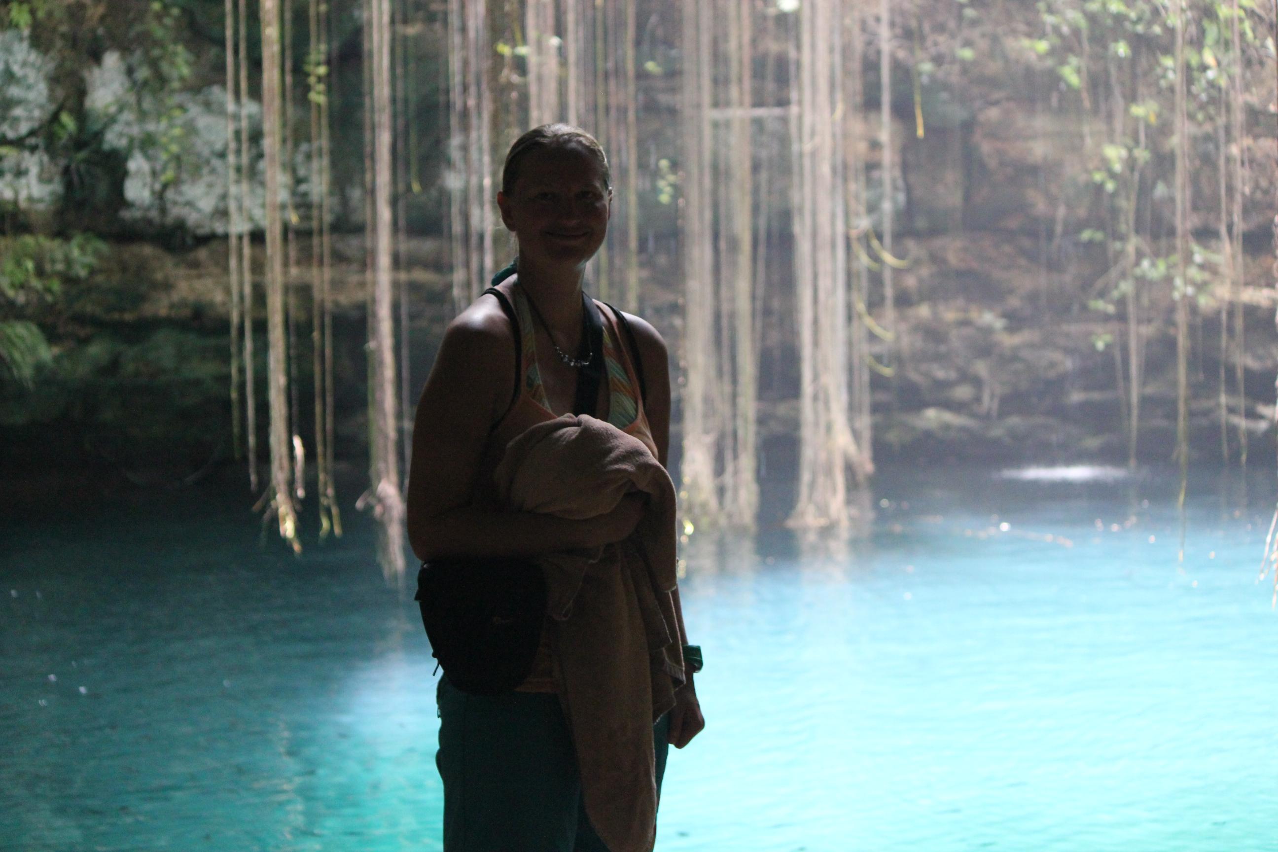 Caving; Cenote IK KIL, Mexico; 2011